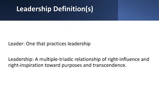 Leadership definitions from Kenneth-Maxwell Nance